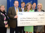 From left: NCC Associate Vice President of Corporate and Economic Development Wendy Marlowe, NCC President Bill Carver, NCC Foundation President Jake Parrott, Duke Energy District Manager and NCC Foundation Board Member Tanya Evans, 2015-2016 NCC Foundation Campaign Chair Craig Worthy and NCC Foundation Executive Director Pat Daniels.