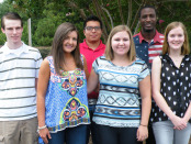 2015-2016 NCC Student Ambassadors from left: Zachary Privette, Faith Anderson, Ismael Gomez, Valerie Brooks, Brandonn Odom and Lindsey Walston
