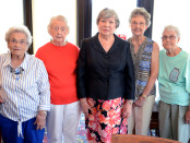 Founding scholarship members still active in the Park View Hospital Nurses Alumnae Association and on the Scholarship Committee are: Crews Shearin, Ernell Edwards, Martha Price, Betty Langston, and Eva King, Virginia Glasgow and Georgia Lewis were unavailable for pictures. Deceased founding scholarship members are Dr. Ben Gold, Honorary Chair; Lessie Mae Bone, Emily Battle, Martha Bobbitt, Corinna Hedgepeth, Ann Medlin and Frances Batchelor.