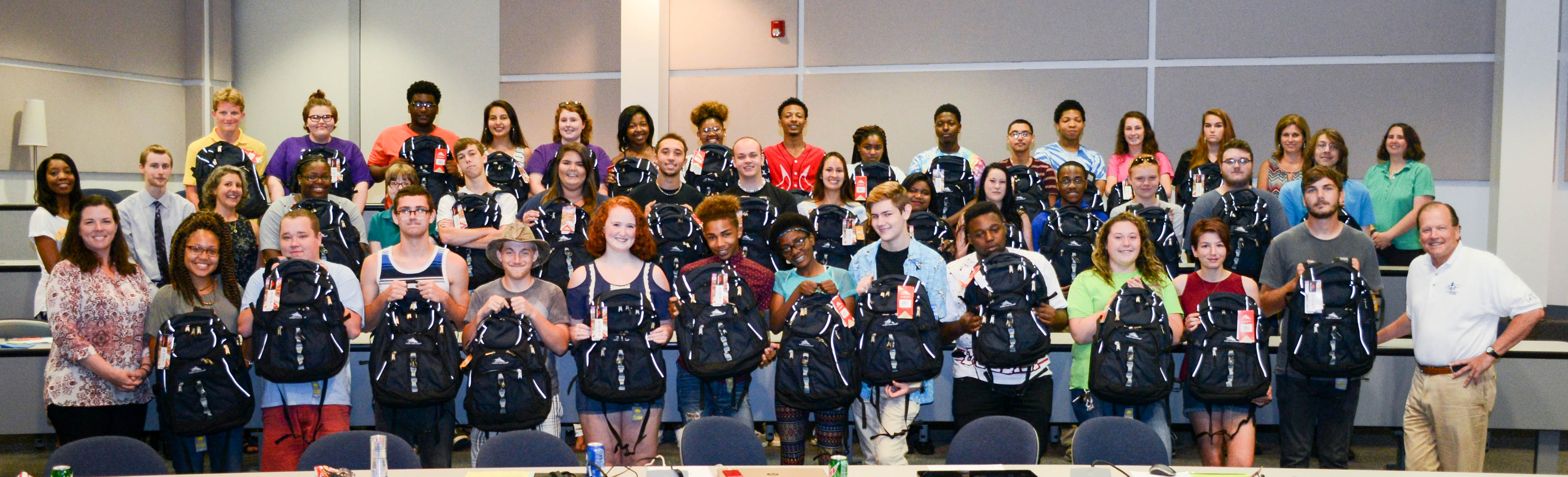 "Super Seniors"" Receive Laptops and Backpacks 